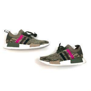 Women's Adidas NMD R1 Primeknit Camo Running Shoes